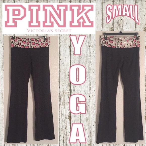 360eaec6bdf PINK VS Leopard Print Bling Black Yoga Pants. M 5a6d642b8df470926918044d